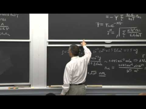 Lecture 24: Electrical Double Layer, Size Effects in Phase